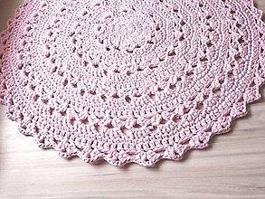 Úžitkový textil - Veľký okrúhly koberec  (Ružová) - 10087134_