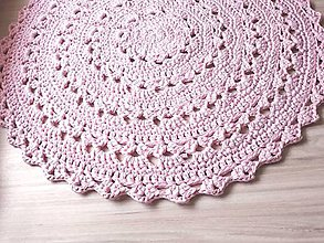 Úžitkový textil - Koberec - okrúhly (Ružová) - 10087271_