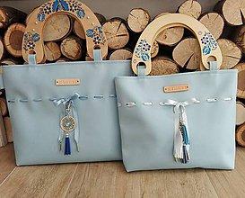 Kabelky - Moderná ľudová kabelka (Modrá) - 10086823_