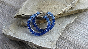 Náušnice - Kamienkové kruhy - 10087865_