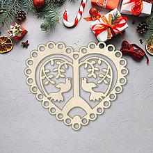 Dekorácie - Vianočná ozdoba srdce - 10089674_