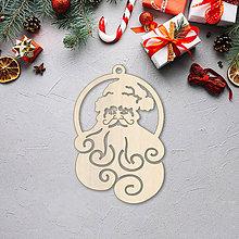 Dekorácie - Vianočná ozdoba dedko mráz - 10089733_