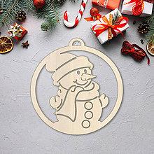 Dekorácie - Vianočná ozdoba snehuliak - 10089848_