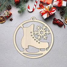 Dekorácie - Vianočná ozdoba korčuľa - 10089850_