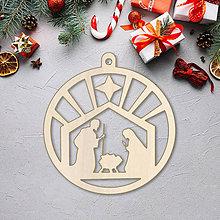 Dekorácie - Vianočná ozdoba betlehem - 10089851_