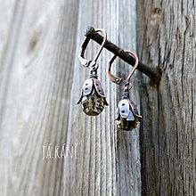 Náušnice - Z lesa - náušnice - citrín 83 - 10088166_
