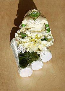 Kytice pre nevestu - Svadobná žaba - svadobná dekorácia - 10085526_