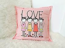 Textil - Obliečka na vankúšik LOVE - 10087832_