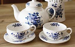 Nádoby - Set - Čajník s dvoma šálkami - 10086942_