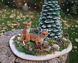 Dekorácie - Líštičky v lese - 10087670_