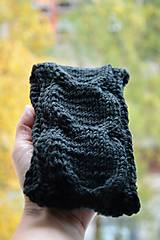Čiapky - pletená čelenka - 10086730_