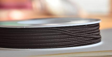 Galantéria - Šujtášová šnúrka čoko 3mm, 0.22€/meter - 10089044_