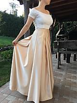 Sukne - Saténová sukňa s topom - 10088383_