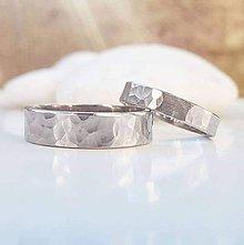 Prstene - Gloss & Matt white gold - 10091416_