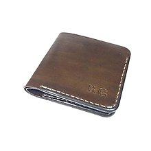 Tašky - Pánska kožená peňaženka (Ručné šitie) - 10093716_