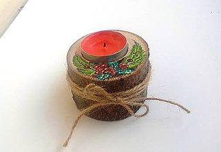 Svietidlá a sviečky - Vianočný svietnik - 10092299_