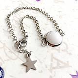 Náramky - Stainless Steel White Jade Simple Bracelet / Elegantný náramok s bielym jadeitom z chirurgickej ocele /1123 - 10091608_