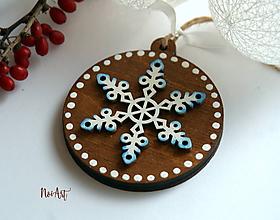Dekorácie - Vianočná ozdoba masív 7 - 10092440_
