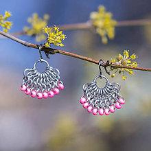 Náušnice - Sukýnky - náušnice (ružové) - 10093334_