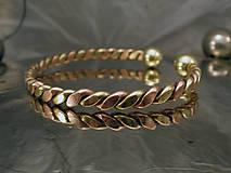 Šperky - Viking - zlato-medený náramok s guličkami - 10090009_