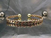 Šperky - Viking - zlato-medený náramok s guličkami - 10090013_
