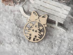 Dekorácie - Vianočná ozdoba guľa s mašličkou - 10091521_