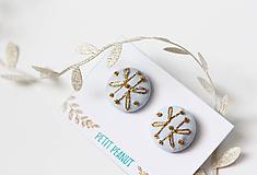 Náušnice - Buttonky - zlaté - 10093832_