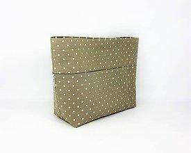 Taštičky - Organizér do kabelky bodkovaný pieskovej farby - 10091941_