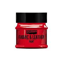 Farby-laky - Farba na textil a kožu, 50 ml, Pentart (červená) - 10091070_