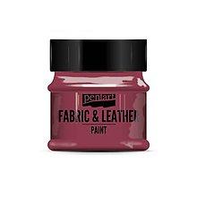 Farby-laky - Farba na textil a kožu, 50 ml, Pentart (bordová) - 10091085_