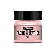Farby-laky - Farba na textil a kožu, 50 ml, Pentart (ružová) - 10091721_