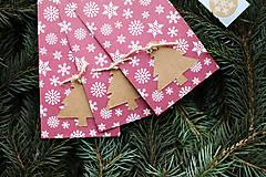 Papiernictvo - Papierový sáčok na vianočné drobnosti SADA - 10089965_