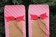Papiernictvo - Papierový sáčok na vianočné drobnosti SADA - 10089974_