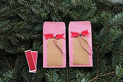 Papiernictvo - Papierový sáčok na vianočné drobnosti SADA - 10089976_