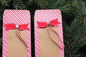 Papiernictvo - Papierový sáčok na vianočné drobnosti SADA - 10089975_