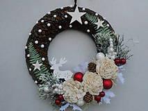 Dekorácie - vianočný veniec - 10092378_