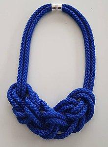 Náramky - Lanový náhrdelník  modrá - 10090318_