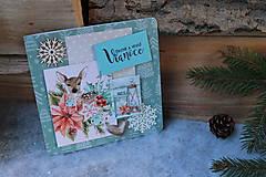 Papiernictvo - modrá_ vianočná pohľadnica - 10093752_