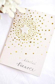 Papiernictvo - Vianočné nebo (Bielo - zlaté nebíčko) - 10091656_
