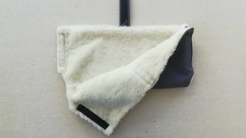 Rukávnik handmuff VLNIENKA double Merino wool grey šedý