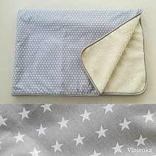 Úžitkový textil - Ovčie runo Deka vlnená Hviezda šedá - 10091302_