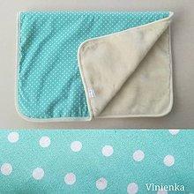Úžitkový textil - Vlnená deka 100% ovčie rúno MERINO TOP super wash MINT - 10092639_
