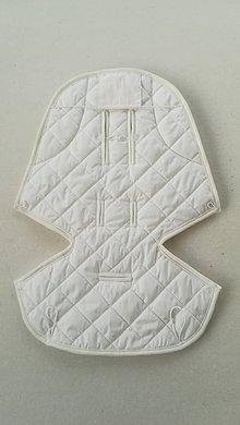 Textil - Podložka / poťah do kočíka STOKKE  Summer and Winter 100% ovčie rúno MERINO ELEGANT OFF WHITE - 10093961_