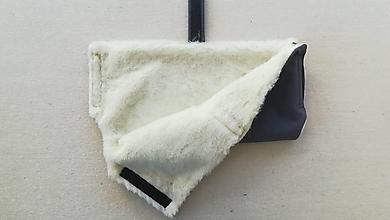 Rukavice - Rukávnik handmuff VLNIENKA double Merino wool grey šedý - 10094187_