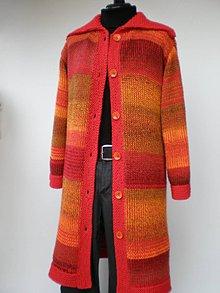 Svetre/Pulóvre - Pletený sveter oranžovo - červený - 10092354_
