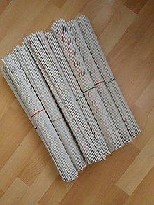 Materiál ručne robený - Papierové ruličky - 10090394_