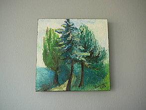Obrazy - Tri stromečky... - 10091104_