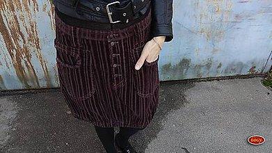 Sukne - manšestrová sukně hnědovínová prodloužená - 36,38,40,42 - 10091208_