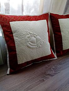 Úžitkový textil - Vianočný vankúš - 10091417_