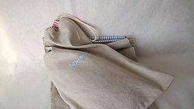 Úžitkový textil - Ľanové vrecko (48 x 30) cm do kuchyne - 10090801_